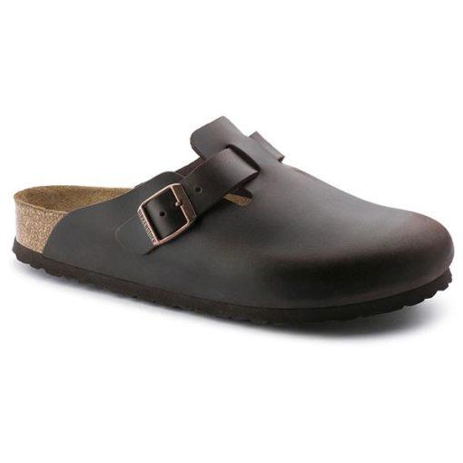 Birkenstock Boston Soft-Footbed Brown Amalfi Leather