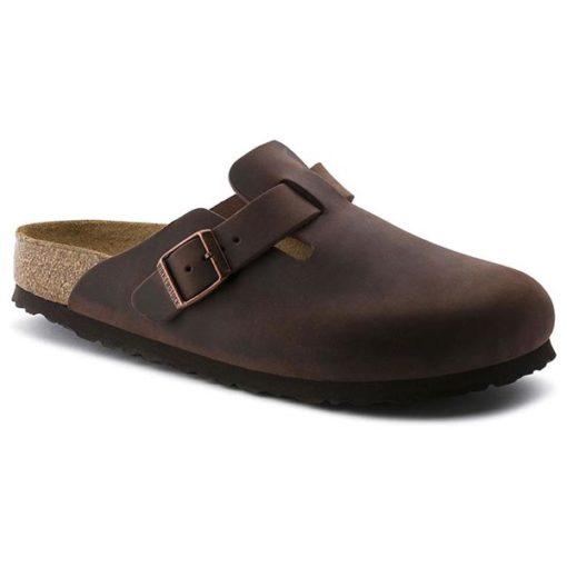 Birkenstock Boston Soft-Footbed Habana Oiled Leather Narrow