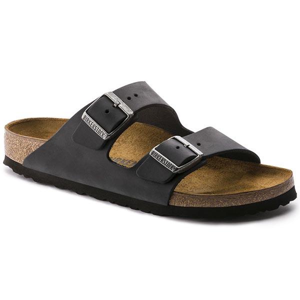 Birkenstock Arizona Sandal Black Oiled Leather Narrow