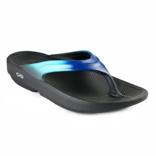 Oofos Women's OOlala Luxe Sandal Blue Jay