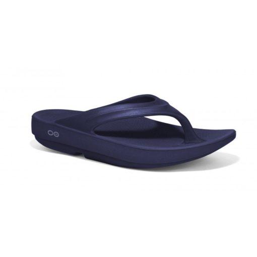 Oofos OOlala Navy Thong Sandal