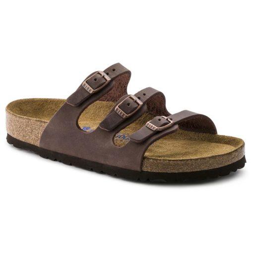 Birkenstock Florida Soft-Footbed Habana Oiled Leather