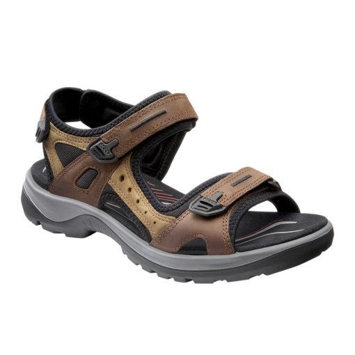 ECCO Women's Yucatan Sandal Bison/Mineral/Black Leather