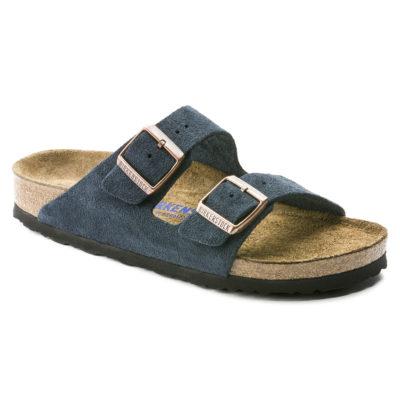 Birkenstock Arizona Soft-Footbed Navy Suede Leather Regular
