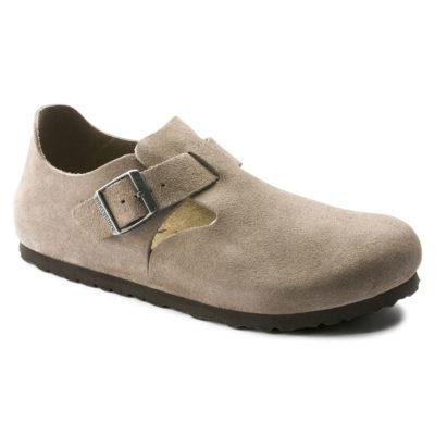 Birkenstock London Taupe Suede Leather