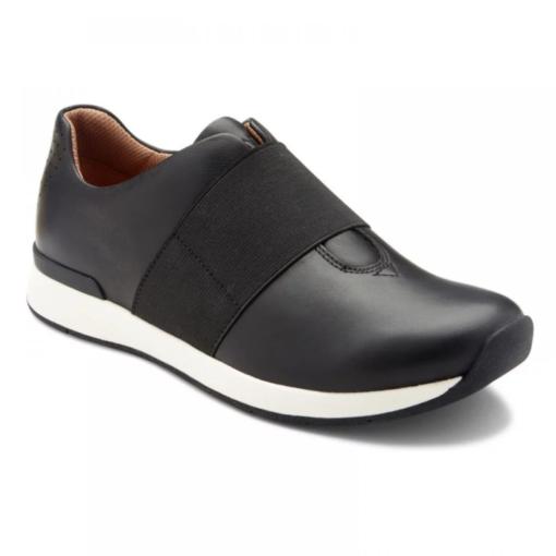 Vionic Women's Codie Casual Sneaker Black Leather
