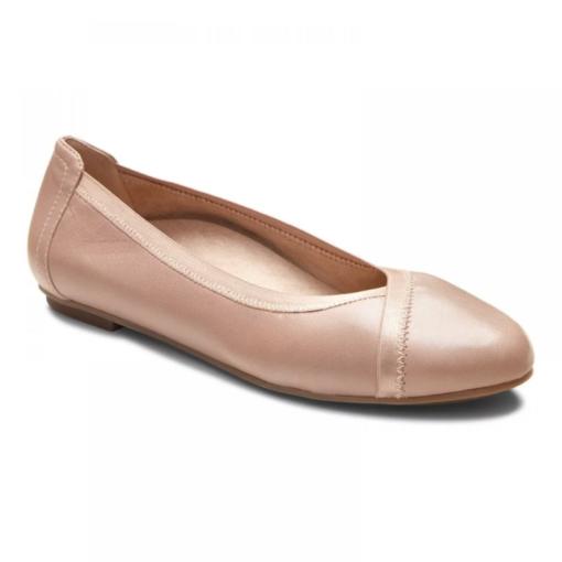 Vionic Women's Caroll Ballet Flat Tan Leather