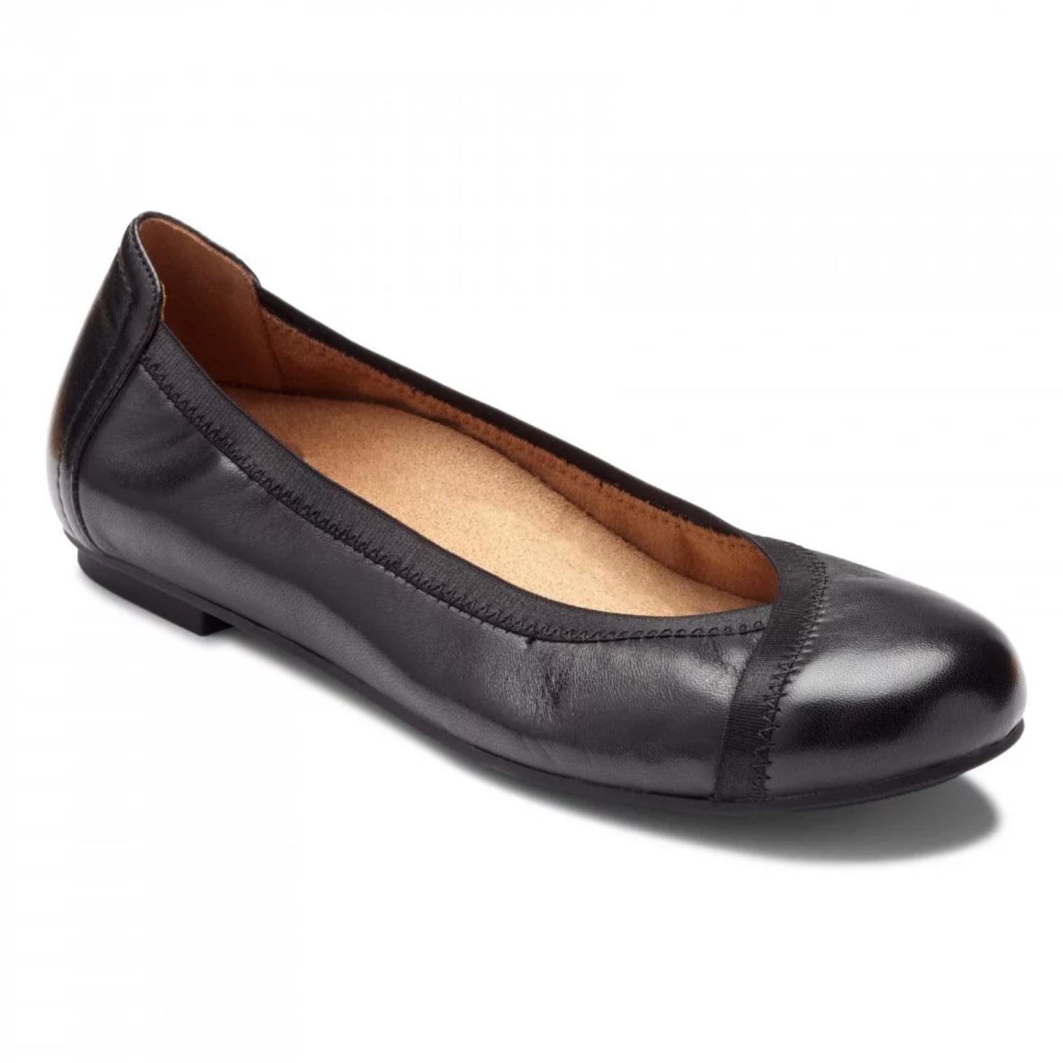 e36d2c3352d Vionic Women s Caroll Ballet Flat Black Leather