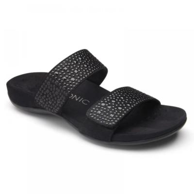 Vionic Women's Samoa Slide Sandal Black