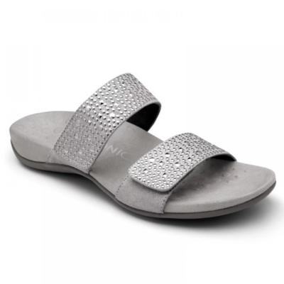Vionic Women's Samoa Slide Sandal Pewter