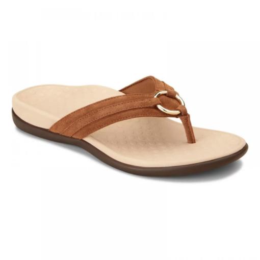 Vionic Women's Tide Aloe Toe Post Sandal Toffee