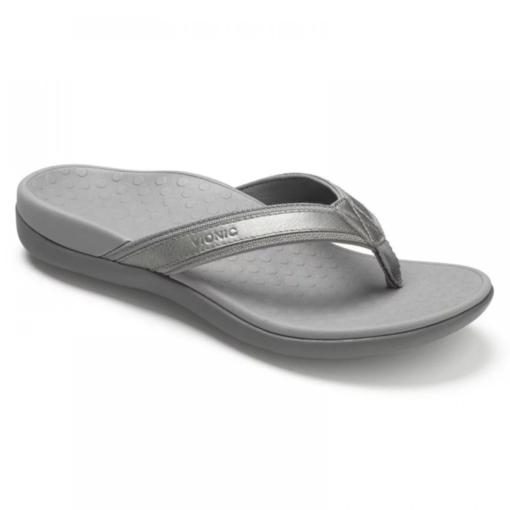 Vionic Women's Tide II Post Sandal Pewter Metallic