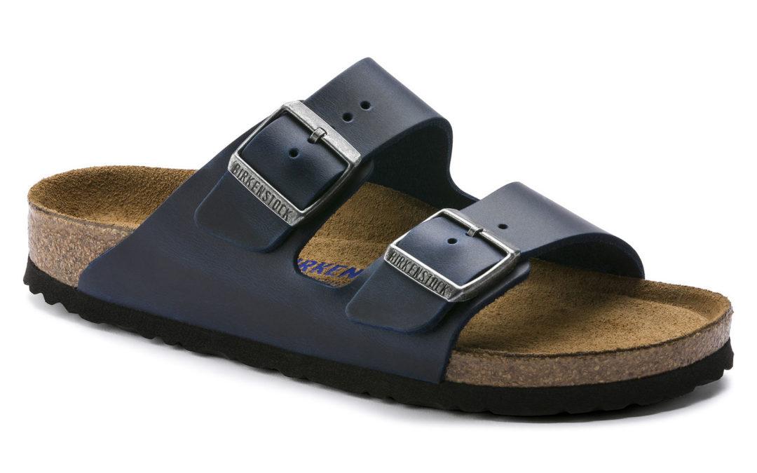 Birkenstock Arizona Soft-Footbed Oiled Nubuck Leather Blue