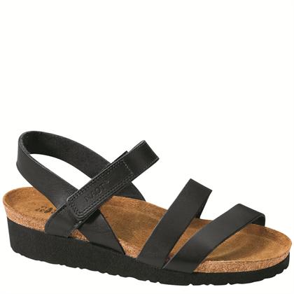 Naot Women's Kayla Wide Black Matte Leather