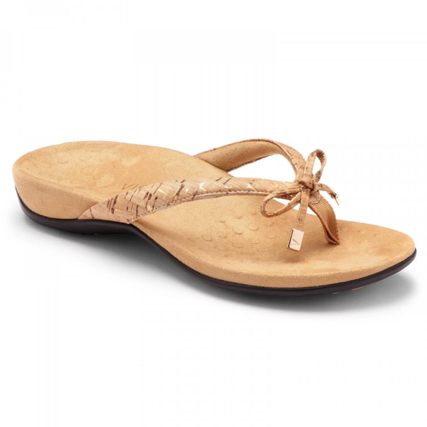 c7ea0883456c Vionic Women s Bella II Toe-Post Sandal Gold Cork