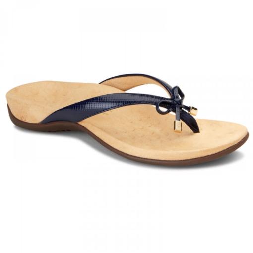 Vionic Women's Bella II Toe-Post Sandal Navy Lizard