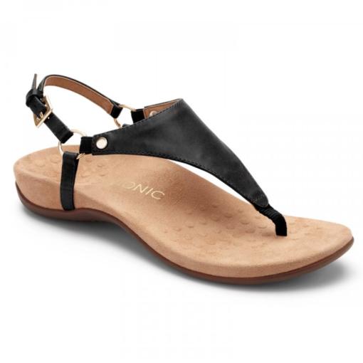 Vionic Women's Kirra Backstrap Sandal Black