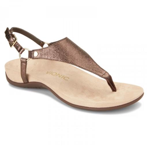 Vionic Women's Kirra Backstrap Sandal Metallic Bronze