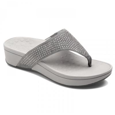Vionic Women's Naples Platform Sandal Pewter