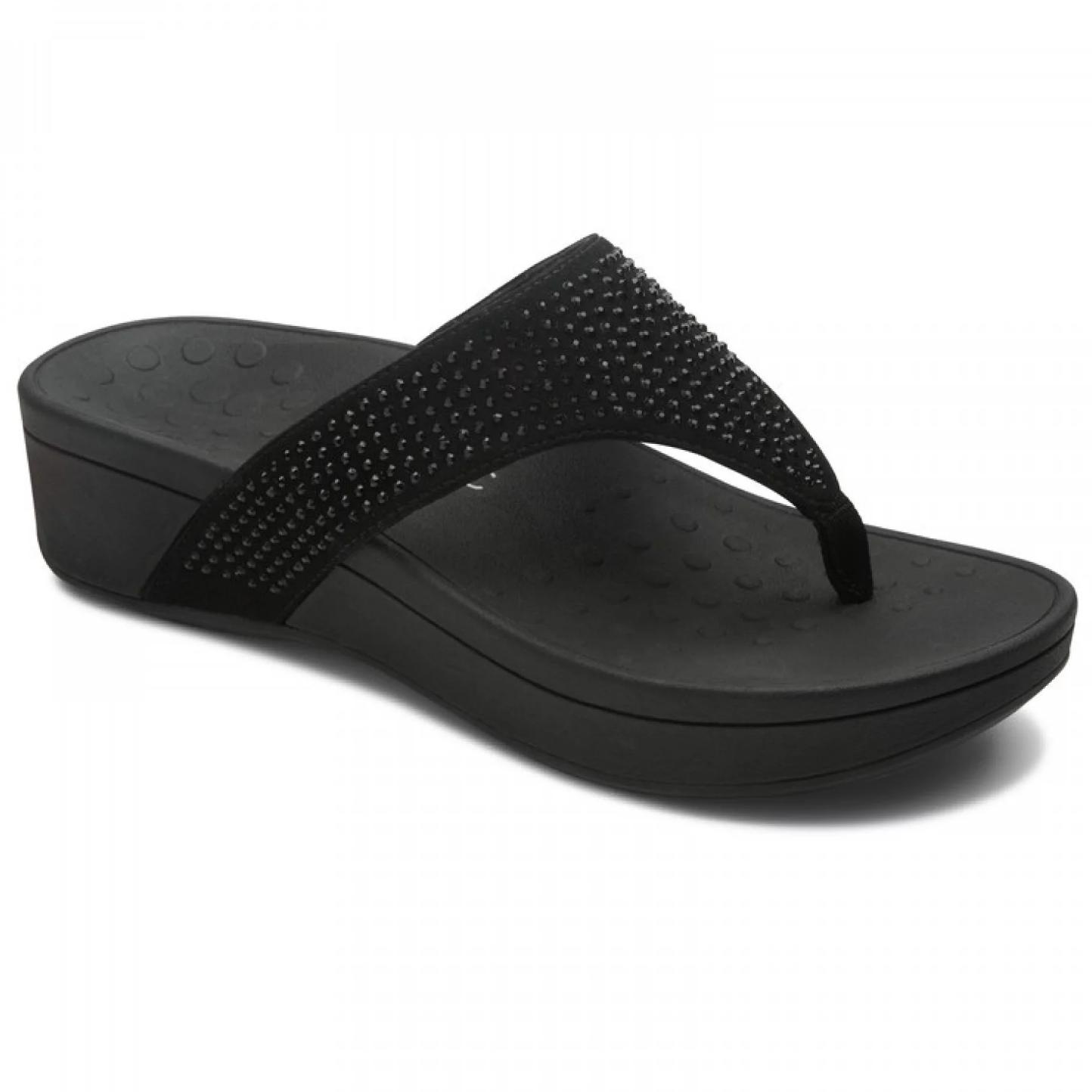 158d239d4b0 Vionic Women s Naples Platform Sandal Black