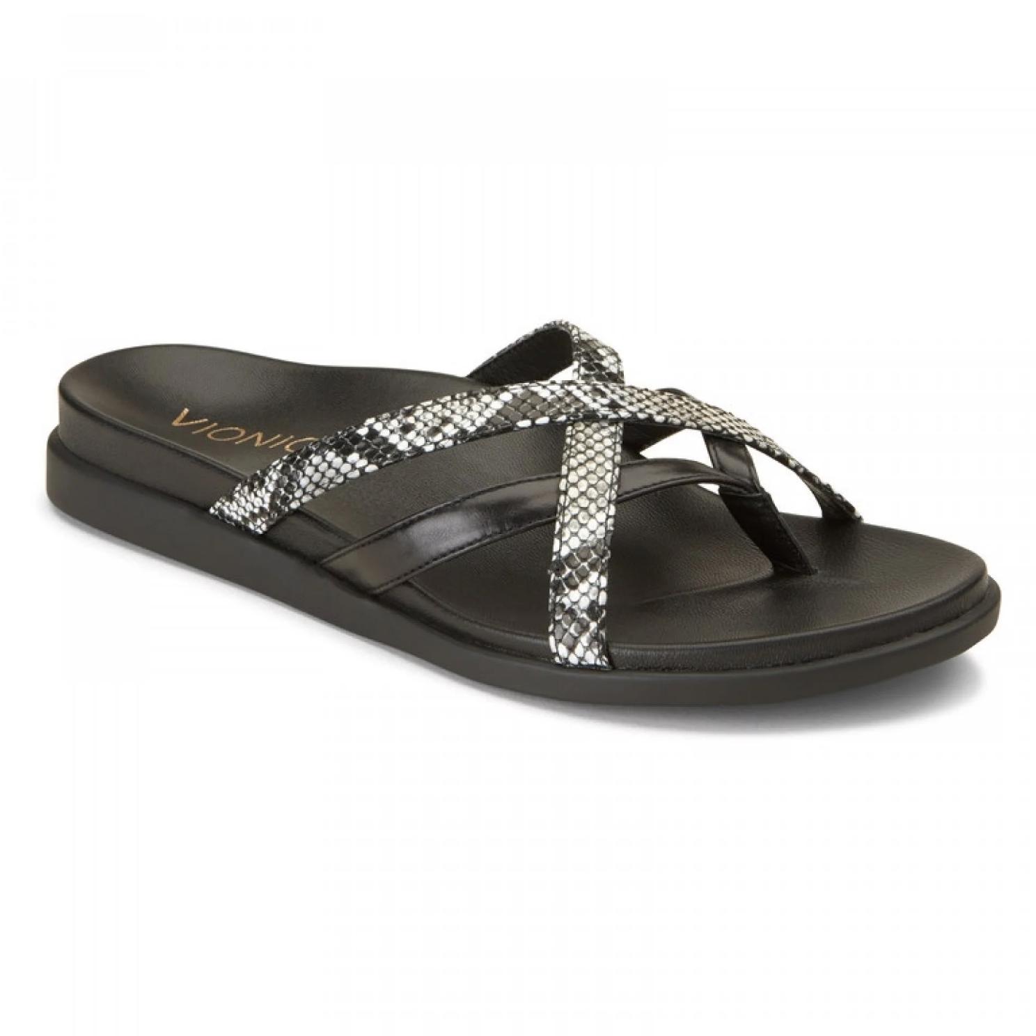 b202ac7d8c62 Vionic Women's Daisy Toe Post Sandal Natural Snake | Birkenstock & More