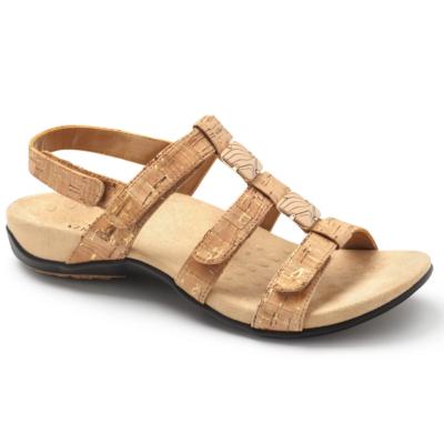 Vionic Women's Amber Adjustable Sandal Gold Cork