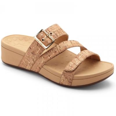 Vionic Women's Rio Platform Sandal Gold Cork