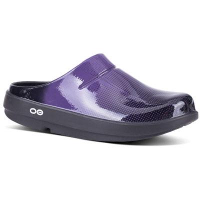 Oofos OOclog Luxe Pixel Clog Purple