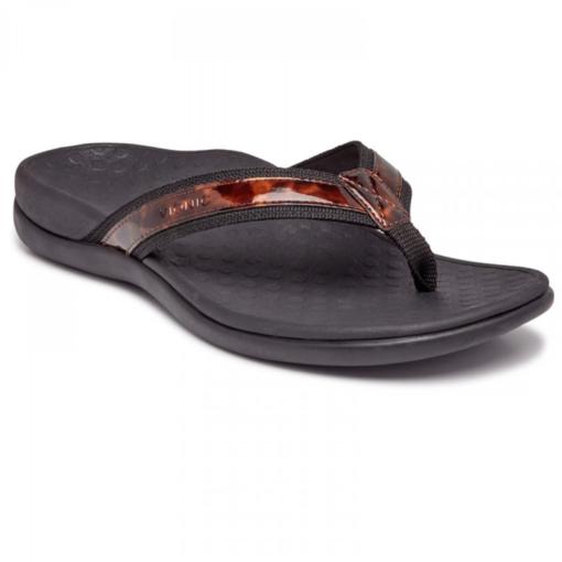 Vionic Women's Tide II Post Sandal Tortoise