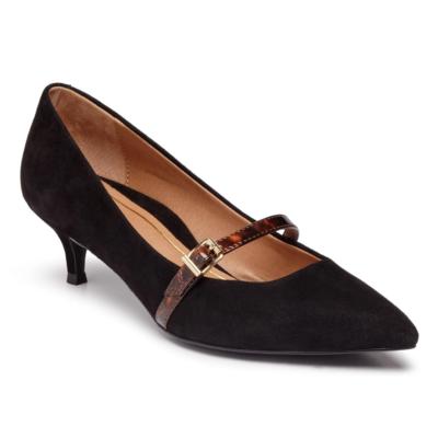 Vionic Women's Minnie Kitten Heel Black Suede