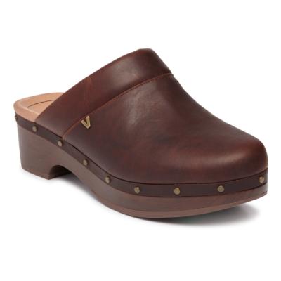 Vionic Women's Kacie Clog Chocolate Leather