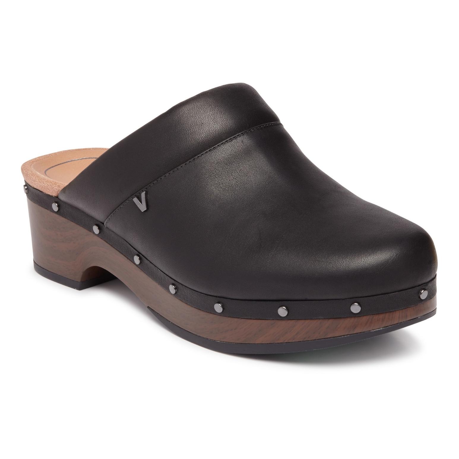 Vionic Women's Kacie Clog Black Leather | Birkenstock & More