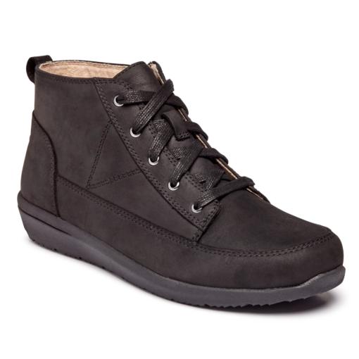 Vionic Women's Shawna High Top Black Leather