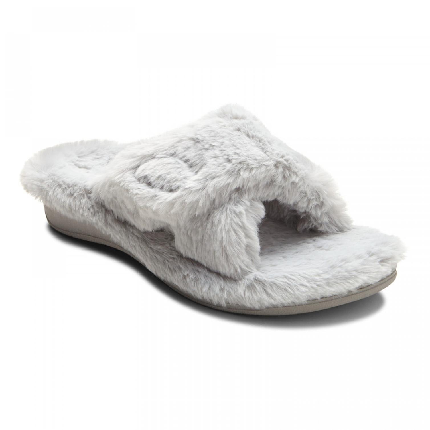 Relax Plush Slippers Light Grey
