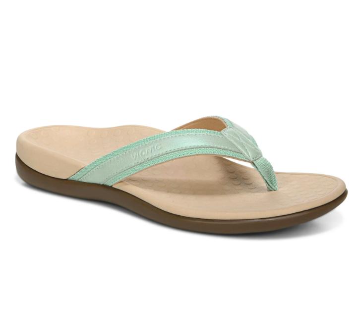Vionic Women's Tide II Toe Post Sandal Lichen