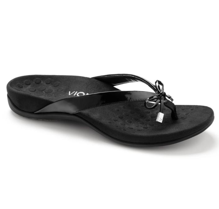 Vionic Women's Bella II Toe-Post Sandal Black