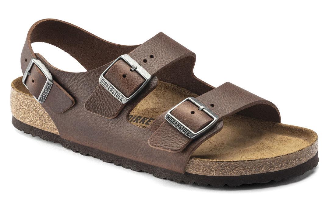 Birkenstock Milano Sandal Vintage Wood Roast Leather